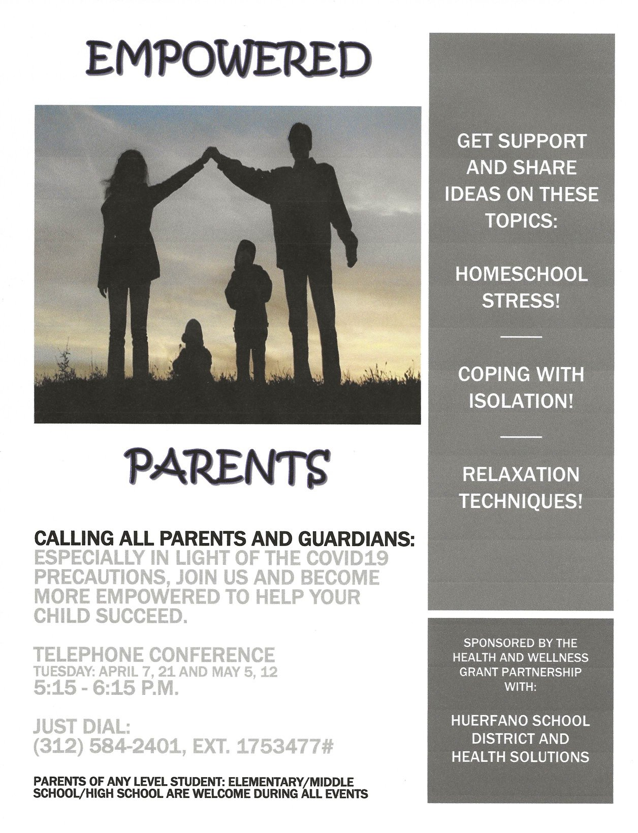 Empowered Parents Webinar Flyer.