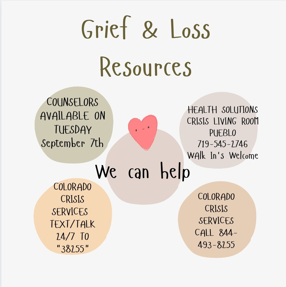 Grief resources infoGraph