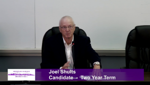 Joel Shults - School Board Candidate - School Board Candidate - Two Year Term Interview Video