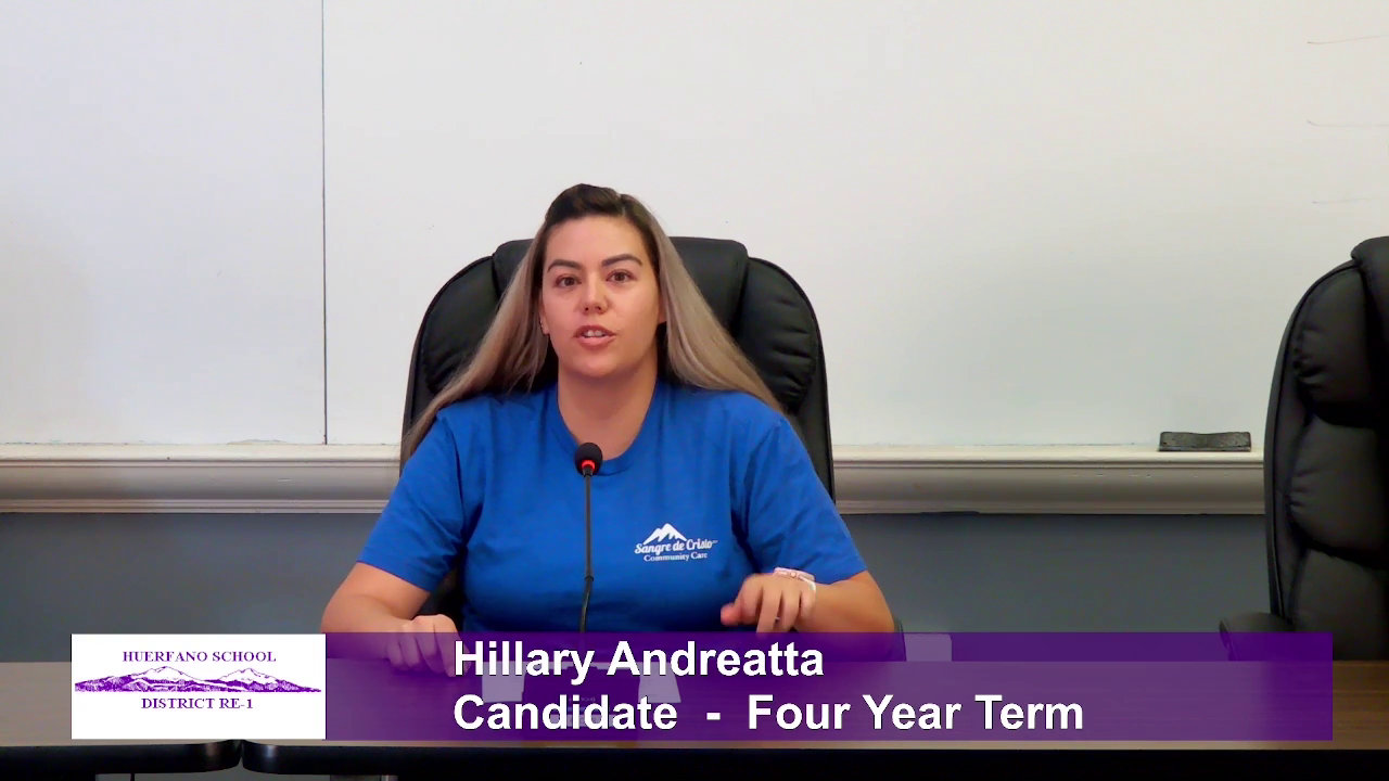 Hillary Andreatta - Four - School Board Candidate - Four Year Term Interview Video