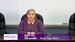Ruth Orr - School Board Candidate - Four Year Term Interview Video