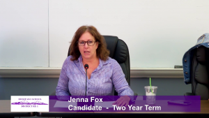 Jenna Fox - School Board Candidate - Two Year Term Interview Video
